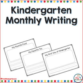 Kindergarten Monthly Writing Worksheets Teaching Resources