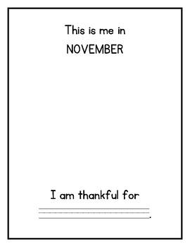 Kindergarten Monthly Writing Booklet