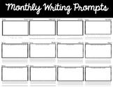 Kindergarten Monthly Writing Prompts