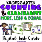 Kindergarten More, Less, Equal Digital Task Cards