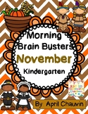 Kindergarten Morning  Work Brain Busters- Bell Ringers / M