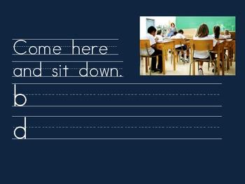 Kindergarten: Morning Journal for Words: here/come