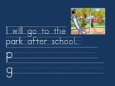 Kindergarten: Morning Journal for words: was/will