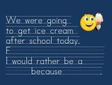 Kindergarten: Morning Journal for words: were/give