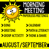 Morning Meeting Messages (September)
