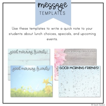 Kindergarten Morning Meeting Messages - April