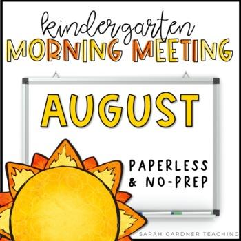 Kindergarten Morning Meeting Messages - August