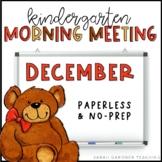 Kindergarten Morning Meeting Messages - December