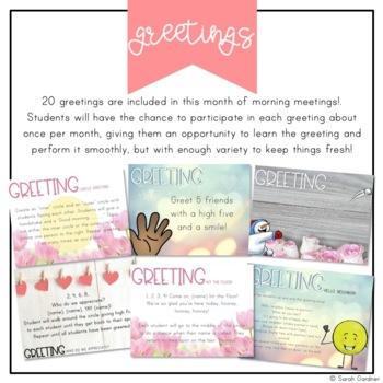 Kindergarten Morning Meeting Messages - February