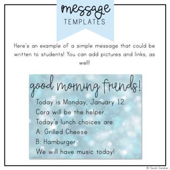 Kindergarten Morning Meeting Messages - January