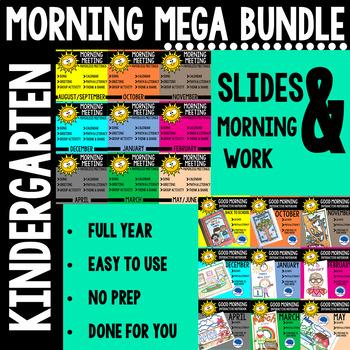 Kindergarten Morning Meeting Messages & Morning Work Growing Bundle