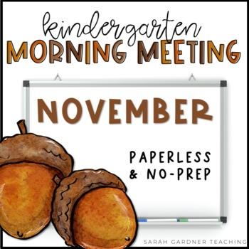 Kindergarten Morning Meetings - November