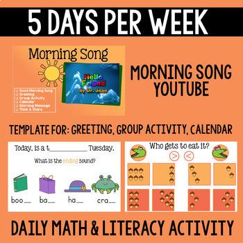 Kindergarten Morning Meeting Messages (October)