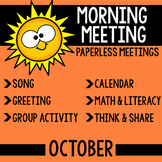 Morning Meeting Messages (October)