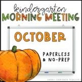 Kindergarten Morning Meeting Messages - October