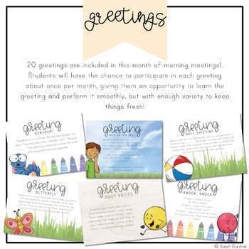 Kindergarten Morning Meeting Messages - September