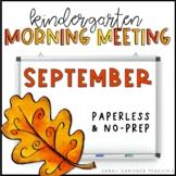 Kindergarten Morning Meetings - September