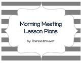 Kindergarten Morning Meeting - SEL