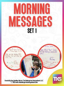 Kindergarten Morning Messages! 200 Customizable Morning ...