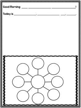 Kindergarten Morning Messages BUNDLE!  A Morning Message Creation!