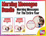 Kindergarten Morning Messages BUNDLE!