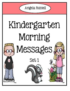 Kindergarten Morning Messages - Set 1