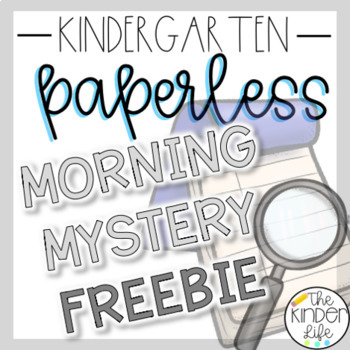 Kindergarten 1st Grade Morning Mystery Day 1 and 2 FREEBIE
