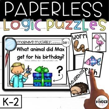 PAPERLESS Mystery Kindergarten 1st Grade Weeks 1-5 Letters Community Helpers