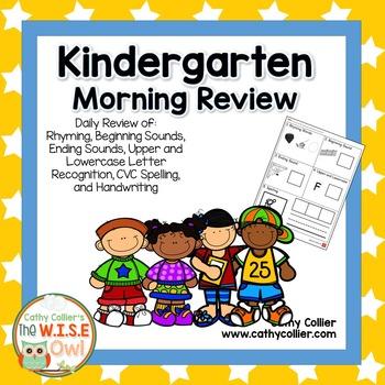 Kindergarten Morning Review - Set 1
