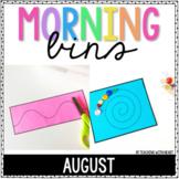 Kindergarten Morning Tubs (August) | Morning Bins