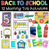 Kindergarten Morning Tubs Bins Back to School