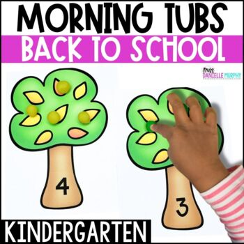 Kindergarten Morning Tubs or Bins for August September