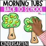 Kindergarten Morning Tubs or Bins for August September