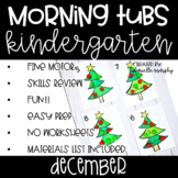 Kindergarten Morning Tubs or Bins for December