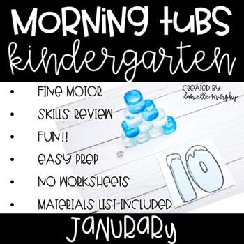 Kindergarten Morning Tubs or Bins for January