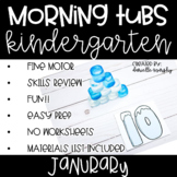 Kindergarten Morning Tubs or Bins for January
