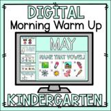 Kindergarten Morning Warm Up May - Preloaded Google Slides™