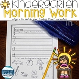Kindergarten Morning Work Unit 1