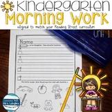 Morning Work for Kindergarten Unit 1