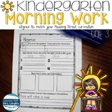 Kindergarten Morning Work Unit 3