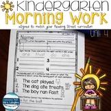 Morning Work for Kindergarten Unit 4