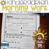 Morning Work for Kindergarten Unit 5