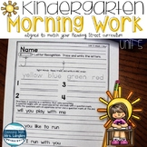 Kindergarten Morning Work Unit 5