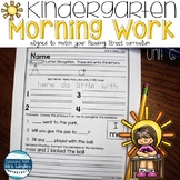 Kindergarten Morning Work Unit 6