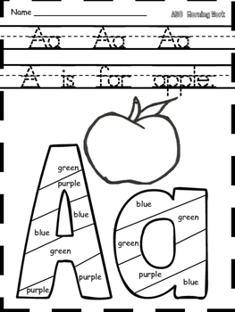 Kindergarten Morning Work-130 Literacy Worksheets