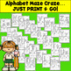 Morning Work: Alphabet Tracing & Mazes  No Prep...Just print & go!