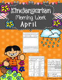 Kindergarten Morning Work (April)