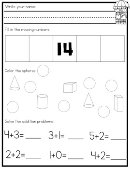 Kindergarten Morning Work - April