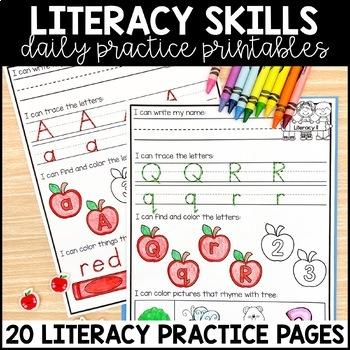 kindergarten morning work august by miss kindergarten love tpt. Black Bedroom Furniture Sets. Home Design Ideas