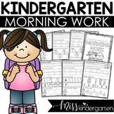 August Morning Work for Kindergarten   Back to School Morning Work
